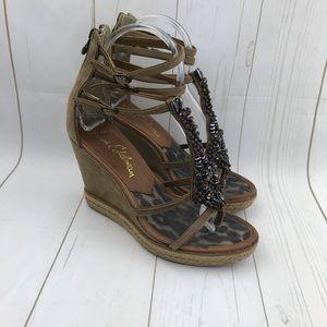 Sam Edelman Lana Wedge Sandals Size 8
